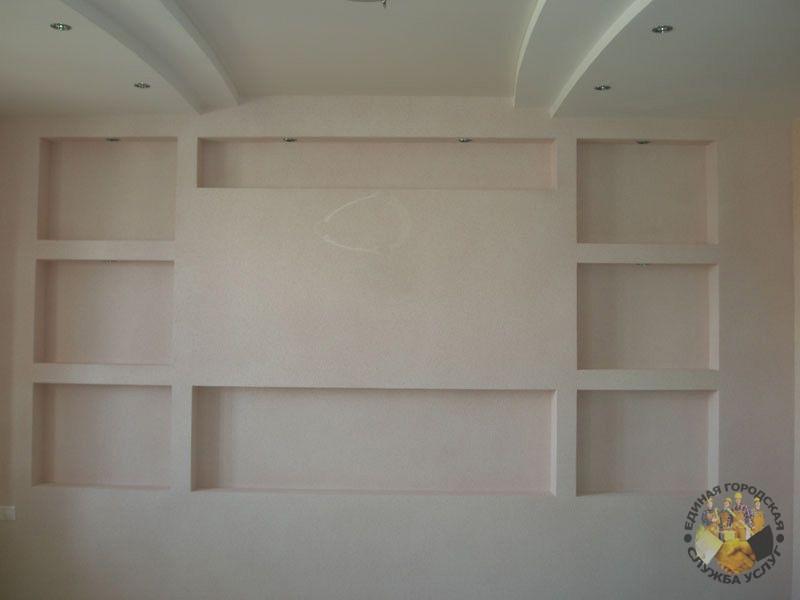 Гипсокартон стена своими руками фото