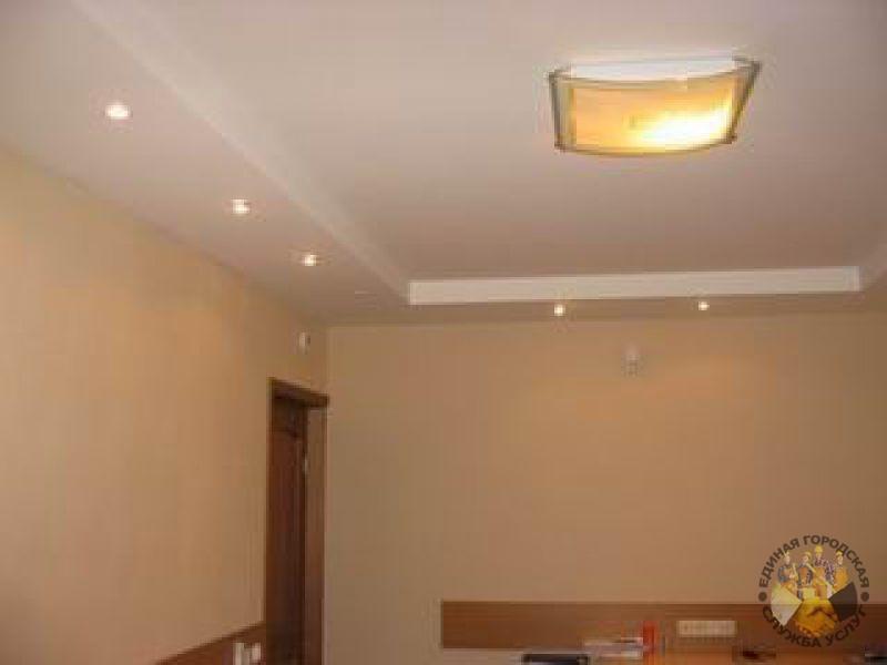 Дизайн потолков из гипсокартона попроще